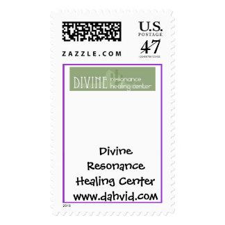 Divine Logo, Divine Resonance Healing Centerwww... Postage