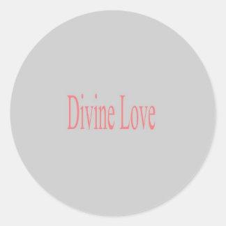 Divine Love Classic Round Sticker