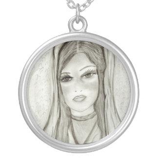 Divine Mary Round Pendant Necklace