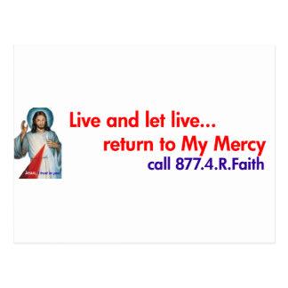Divine Mercy bumper sticker Postcard