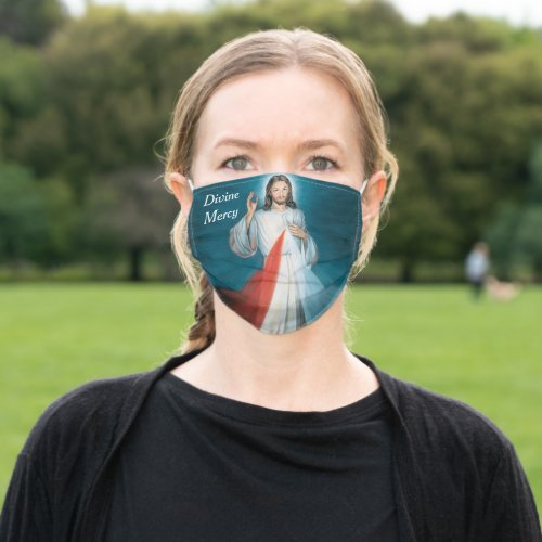 divine mercy cloth face mask