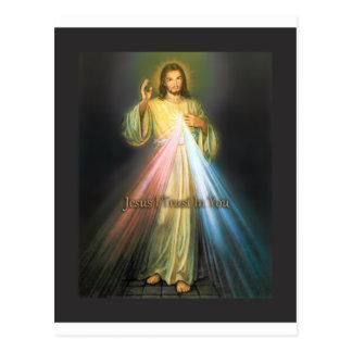 DIVINE MERCY DEVOTIONAL IMAGE POSTCARD