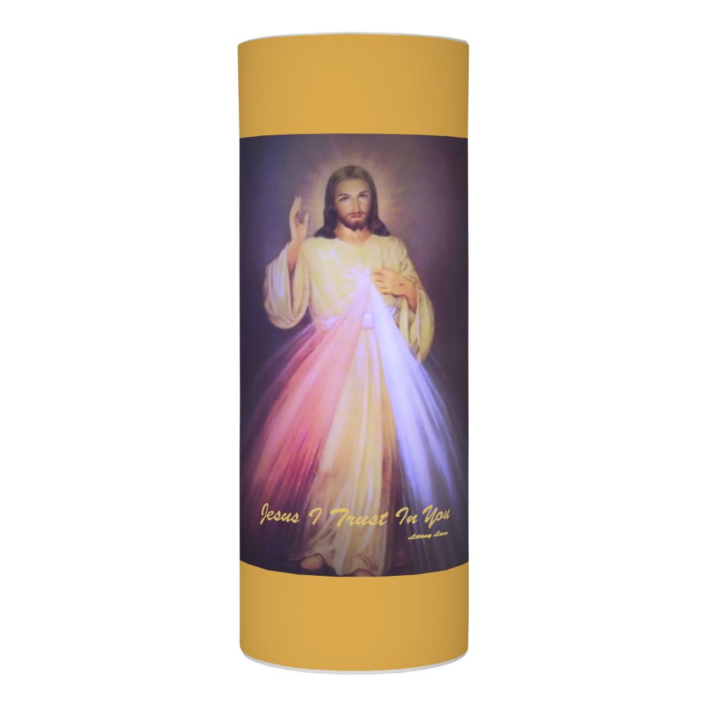 Divine Mercy Gold Flameless Candle