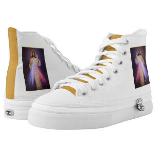 Divine Mercy Gold Printed Shoes
