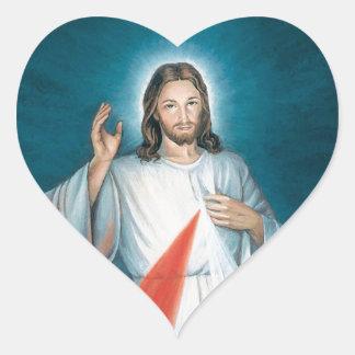 divine mercy heart sticker