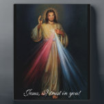 "Divine Mercy Jesus I trust in you! 8x10 with easel Plaque<br><div class=""desc"">*** ---&gt; www.ewtn.com/divinemercy &lt;--- ***</div>"