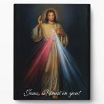 Divine Mercy Jesus I trust in you! 8x10 with easel Plaque<br><div class='desc'>*** ---&gt; www.ewtn.com/divinemercy &lt;--- ***</div>
