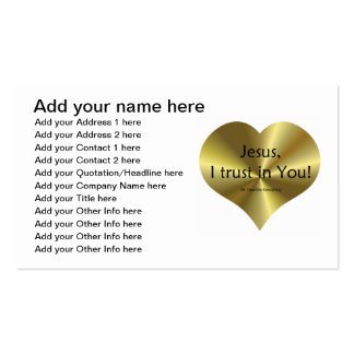 """Divine Mercy - """"Jesus I trust in You """" Double-Sided Standard Business Cards (Pack Of 100)"""
