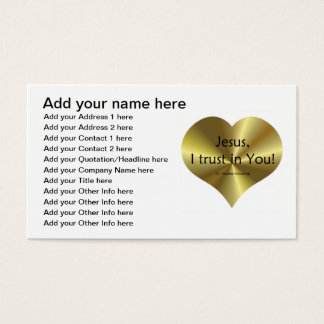 "Divine Mercy - ""Jesus I trust in You "" Business Card"