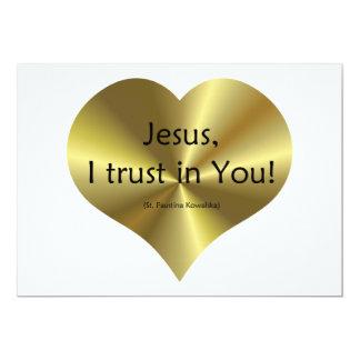 "Divine Mercy - ""Jesus I trust in You "" 5x7 Paper Invitation Card"