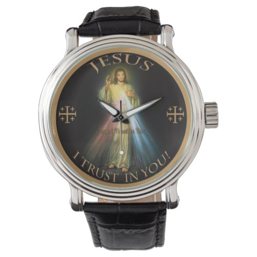 DIVINE MERCY, JESUS I TRUST IN YOU. WRIST WATCH