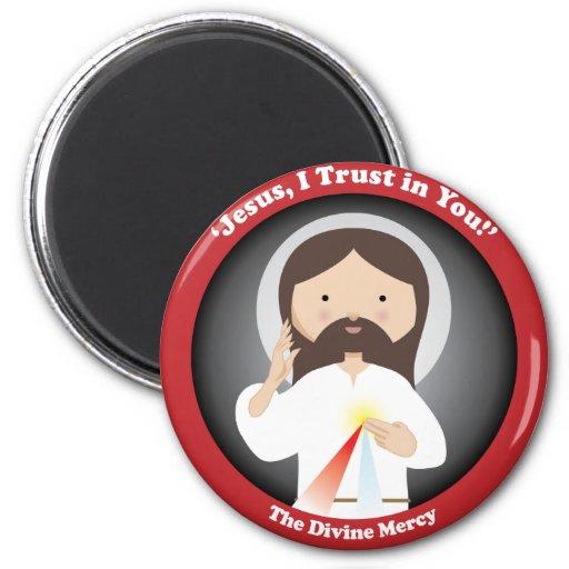 Divine Mercy of Jesus 2 Inch Round Magnet