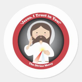 Divine Mercy of Jesus Classic Round Sticker
