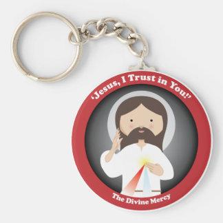 Divine Mercy of Jesus Keychain