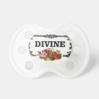 divine pink flowers pacifier