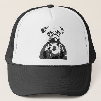 Divine Pug of the Sacred Heart Trucker Hat