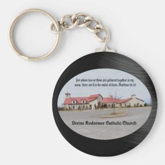 DIVINE REDEEMER CATHOLIC CHURCH-KEYCHAIN BASIC ROUND BUTTON KEYCHAIN