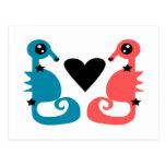 Divine Seahorses in love Postcard