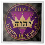 "DIVINE SEAL ray tile6 Ceramic Tile<br><div class=""desc"">The DIVINE SEAL was designed as a tribute to Jehovah&#39;s Divine name. (Ps 83:18)  For emphasis it highlights his name in 3 different forms.  On top is the transliterated form,  at center is the Tetragrammaton and below it&#39;s in Hebrew letters. (wt 08 7/1 p. 30)</div>"