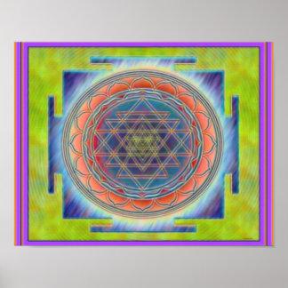 Divine Sri Yantra12 Poster