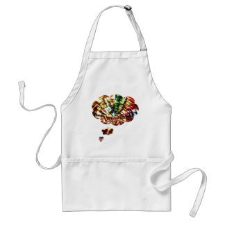 Divine Thoughts - Red Sparkle Cosmic Art Adult Apron