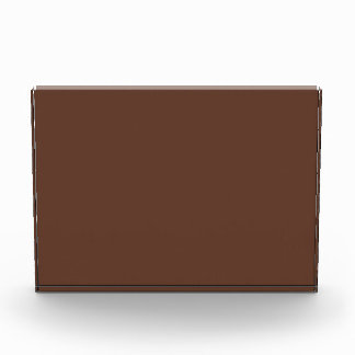Divinely Confectionary Brown Color Acrylic Award