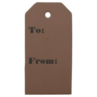 Divinely Confectionary Brown Color Wooden Gift Tags