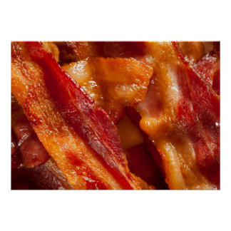 Divinely Decadent Bacon Art Poster