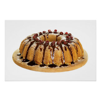 Divinely Decadent Bundt Cake with Cranberries Poster