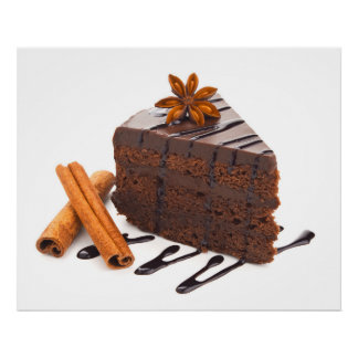 Divinely Decadent Chocolate Cake Art Poster