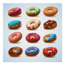 Divinely Decadent Doughnuts Poster - SRF