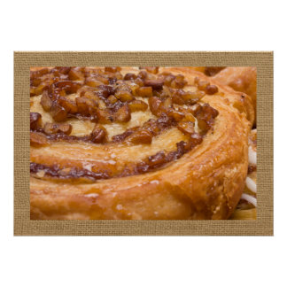 Divinely Decadent Sticky Bun Art Poster