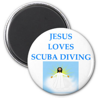 DIVING 2 INCH ROUND MAGNET