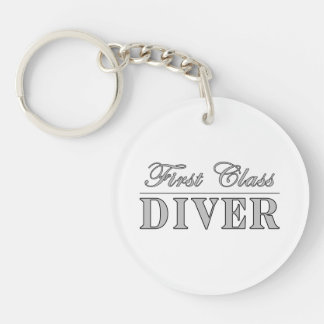 Diving and Divers : First Class Diver Acrylic Keychains