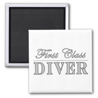 Diving and Divers : First Class Diver Magnet