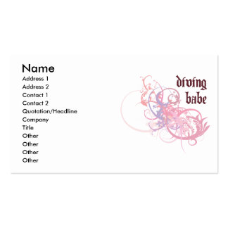 Diving Babe Double-Sided Standard Business Cards (Pack Of 100)