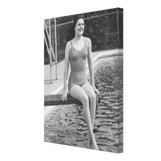 Diving Board Canvas Print