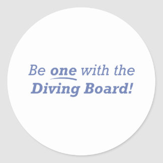 Diving Board / One Classic Round Sticker