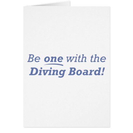 Diving Board / One Greeting Card