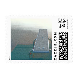 Diving Board Postage Stamps