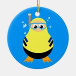 Diving Cartoon Snorkeler Christmas Tree Ornaments