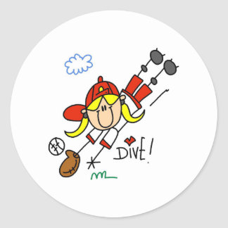 Diving Catch Sticker
