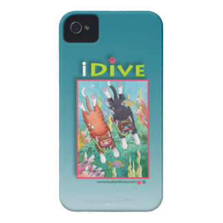 Diving Cats iPhone 4 Case (Bud and Tony)
