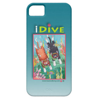Diving Cats iPhone 5 Case (Bud and Tony)