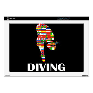 Diving Decal For Laptop