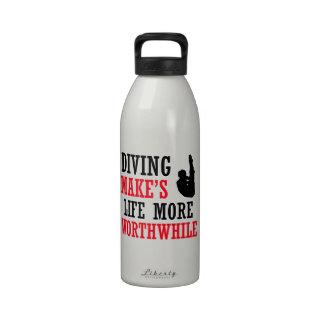 diving design water bottles