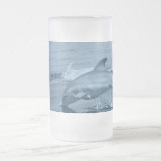 Diving Dolphin Beer Mug
