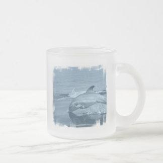 Diving Dolphin Glass Coffee Mug