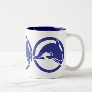 Diving Dolphin Ocean Art Mug