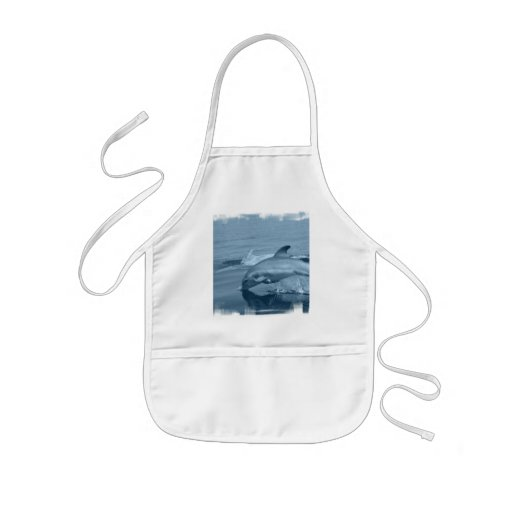Diving Dolphin Smock Kids' Apron